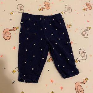 $1 item! Black and white polka dot leggings